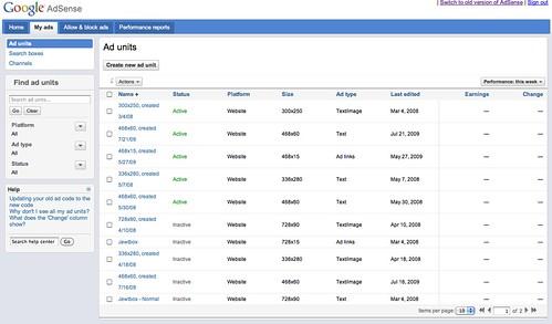 New Google AdSense Interface