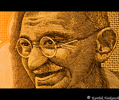 Mahatma, Period. (karthikv4u) Tags: india note gandhi currency bapu gandhiji 1855lens fatherofnation 10rupees mohandaskaramchand