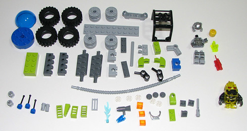 2010 LEGO 8188 Power Miners - Fire Blaster Parts
