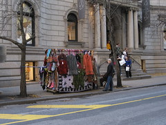 Street Vendor's Wares  in Front of the Anthropologie Store at 18th and Walnut Streets (sameold2010) Tags: park street city philadelphia st square store downtown sale pennsylvania centercity walnut rittenhouse center 18th clothes sidewalk pa penn vendor philly anthropo