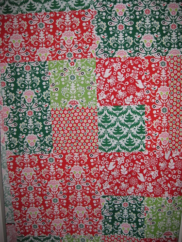 funky christmas quilt top #1