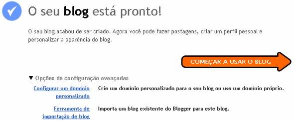 Criar um blog e importar matérias