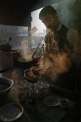 Hot dhaba tea (Iqbal.Khatri) Tags: travel pakistan portrait people photography desert tea places karachi chai sindh mithi thar chay iqbal khatri