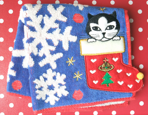 cat in the Christmas sock - Vivienne Westwood
