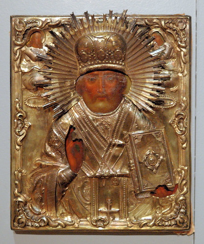 Russian Icon, at the Saint Louis University Museum of Art, in Saint Louis, Missouri, USA - Saint Nicholas 1
