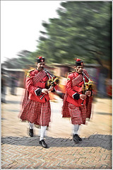 PIED PIPERS (kalsnchats) Tags: city india motion blur photoshop market delhi pipe fair tourist pied trade pipers dillihaat postprocessing kalsnchats