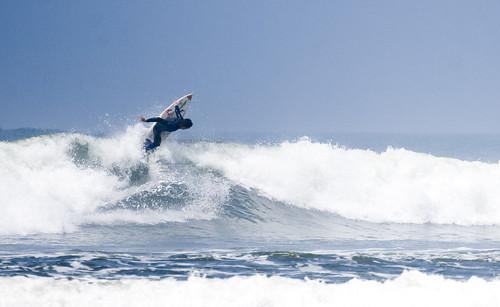 Surfing in Huanchaco La Libertad Peru.