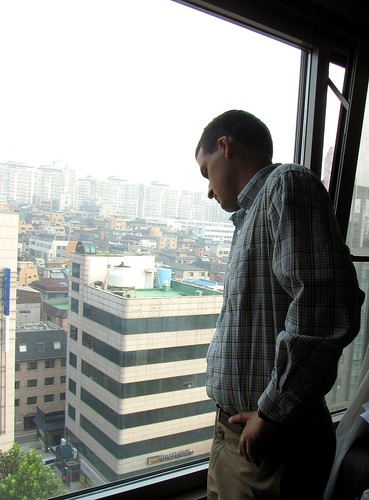josh looking over korea 1