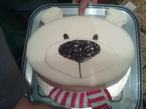 Peter the Polar Bear Cake - by Jenna.