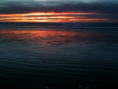 Sunset on Morro Strand State Beach at Morro Ba...