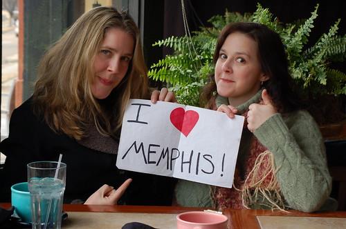 Jenny and Kim love Memphis