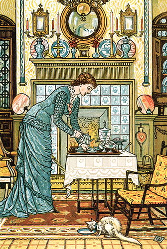 "Frontispiece, ""The House Beautiful"" by Clarence Cook. Drawing by Walter Crane"