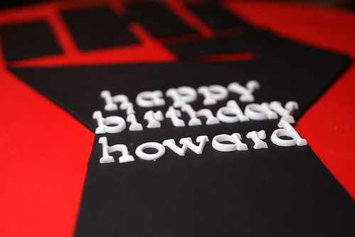 Howard's birthday cake close up