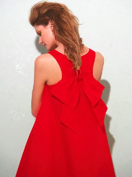 nadino red bow