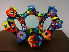 Open Frame 20 Cuboctahedra-(Modular Origami) (Origami Tatsujin 折り紙) Tags: art colors paper paperart origami geometry modular sonicboom fold create multicolored japaneseart papiroflexia module papercraft unit papercrafts polyhedra modularorigami おりがみ multidimensional 折り紙 geometricbeauty geometricart cooperativelearning colorfulart tetrahedralsymmetry analyticalgeometry origamitutorial mathematicsofpaperfolding mathematicsorigami origamitechniques