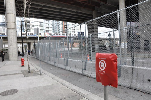 Security fences at GM Place