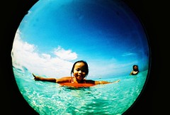 kezia fisheye portrait (darkcanopy) Tags: blue film beach analog xpro lomography crossprocessed kodak crossprocess philippines wide lofi slide fisheye analogue boracay fe ph elitechrome  kezia lomograph lowfi lsi  fe2 fisheye2 elitechromeextracolor submersible xprod ebx lomographyfisheye elitechromeextracolor100 170degrees 170 fisheyesubmarine submersiblecamera fesubmarine lsifisheye keziadaniella