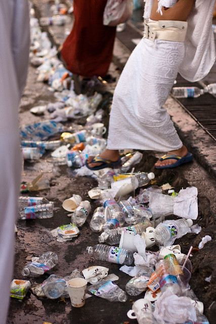 Hajj, Pilgrims, Mecca, Street full of trash
