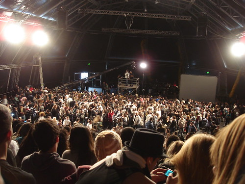 The crowd at the audition