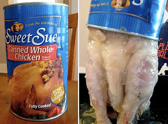 Canned Whole Chicken - Inside the can (SA_Steve) Tags: can meat canned inside cannedmeat cannedwholechicken insidethecan