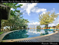 Come Back From Koh Kood , Swimming Pool At Captain Hook Resort/  (AmpamukA) Tags: travel wallpaper sky reflection pool beautiful swimming canon thailand soft resort reflect captain thai hook koh trad kood           ampamuka