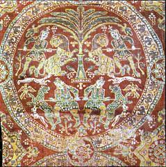 Sassanian silk, 7thc Vatican Museum (julianna.lees) Tags: ancient silk textiles sassanian