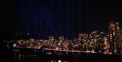 English Bay Light Show, Vancouver 2010 (Gord McKenna) Tags: show street bridge light english night vancouver creek bay games burrard olympic gord false 2010 mckenna gordmckenna