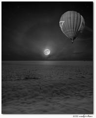 hdr aus drei fotos :-) (manfred-hartmann) Tags: schnee bw moon snow night germany stars mond nacht spuren himmel luna explore hartmann weiss schwarz manfred sterne niedersachsen heissluftballon hrd