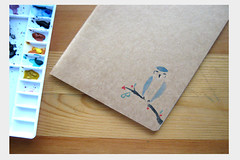 blue bird moleskine