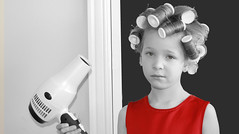 Like Jenny, only younger (rianpie) Tags: girl kids hair kid rollers curlers february2010photohuntchallenge