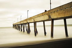 Pacifica Pier (Michael Brooking Photography) Tags: ocean california beach public water fog lights sand nikon ghosts extendedexposure pacificapier d700 michaelbrookingphotography