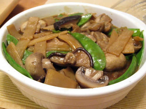 Braised Bamboo Shoots and Mushrooms