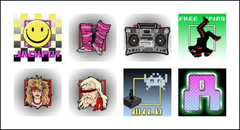 free So 80's slot game symbols