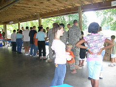 Army Community Service celebrates 43rd birthday with community barbecue.