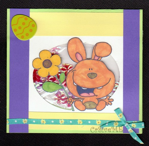 easter bunny flower card