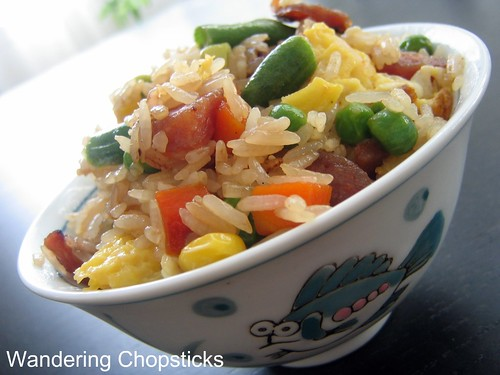 Fried Rice with Chinese Sausage, Frozen Mixed Vegetables, and Eggs 4