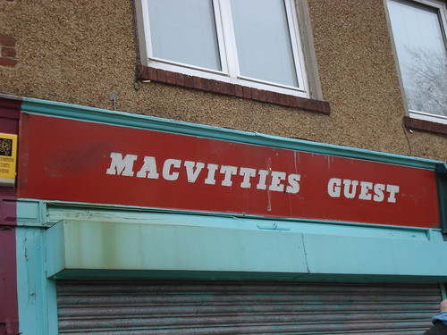 Old MacVitties Guest sign