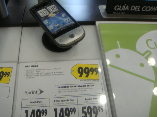 HTC Hero Price