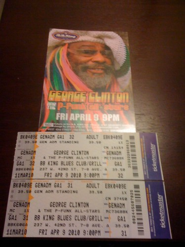 Best Early Birthday Gift Ever. @George_Clinton tickets at @BBKingBluesClub ( thanks @hopemarie )