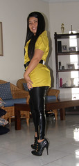 6 Inch Heels (johnerly03) Tags: black fashion asian shiny boots philippines filipina ankle leggings erly