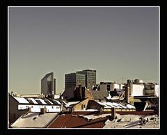 Rooftops (1) (frode skjold) Tags: sky oslo norway norge rooftops himmel piper utsikt tak wiev postgirobygget hotelplaza akershusfestning kontraskjret takstein canoneos450d radissonblu