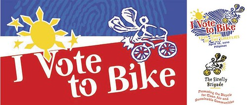 tour of the firefiles 2010 - i vote to bike