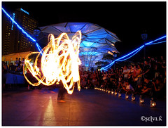 A Magical Night!!! (S e l v i) Tags: fire clarkequay fireperformance selvikrishnaraj readbridgesingapore