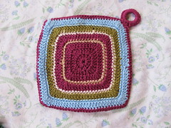 Purple-y Potholder -back