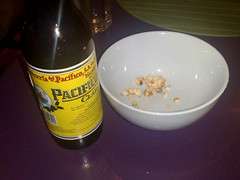 Pacifico beer and spicy popcorn at Tex Mex II, Edinburgh