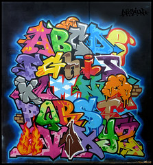 Abcdaire by VISION (MCZ / OC) (Thias (-)) Tags: terrain streetart paris wall painting graffiti mural spray urbanart vision painter alphabet graff aerosol oc 93 bombing spraycanart pgc thias mcz photograff abcdaire abcdaire frenchgraff photograffcollectif