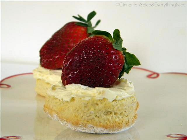 Classic Scones with Devonshire Cream & Strawberries
