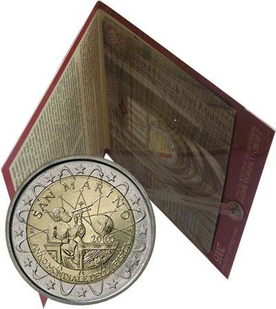 2 Euro San Marino 2005, Svetový rok fyziky