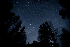 Plenty of Stars (neatmummy) Tags: sky night canon finland dark stars eos high cottage iso universe 16mm f28 polaris auriga cassiopeia 1635mm f28l iso2000 5dmarkii