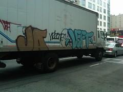 JA LEFT XTC (It Ain't Hard To Tell) Tags: graffiti ja left xtc ykk